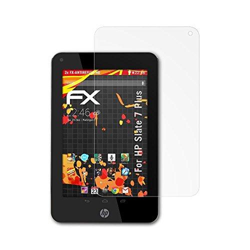 7 Slate Hp Plus (atFoliX Folie für HP Slate 7 Plus Displayschutzfolie - 2 x FX-Antireflex-HD hochauflösende entspiegelnde Schutzfolie)