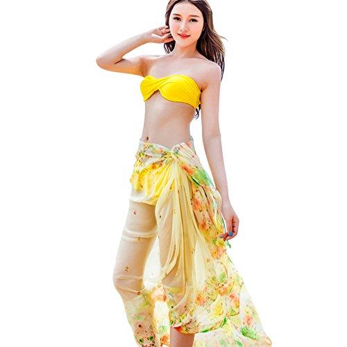 ESHOO Frauen Wickeln Bikini Cover Chiffon Beach Shawl A