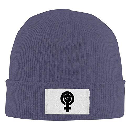 Nifdhkw Beanie Sombreros Puño Feminista Impreso Gorro de Cobertura Slouchy Winter Warm Skull Caps para Hombres Mujeres Multicolor2