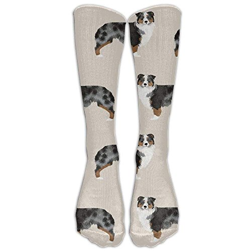 (Australian Shepherd Tube Socks For Women & Men - Graduated Athletic Fit For Running, Nurses, Flight Travel, Skiing & Maternity Pregnancy - Boost Stamina & Recovery)