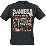 Pantera Cowboys from Hell - Fire Frame T-Shirt schwarz L