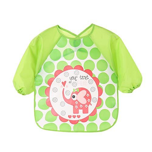 YMCHE Baberos para bebés con Mangas, Baberos Impermeables para bebés y niños...