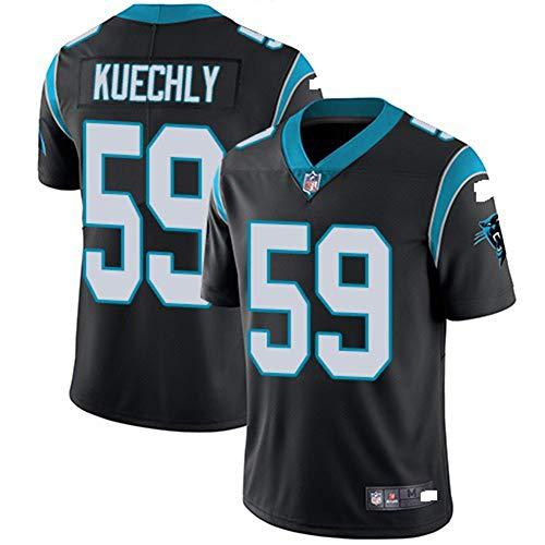 Majestic Athletic NFL Football Carolina Panthers 59# Kuechly T-Shirt Jersey Bequem und Atmungsaktiv Trikot,Black,L (Carolina Panthers Trikots Männer)