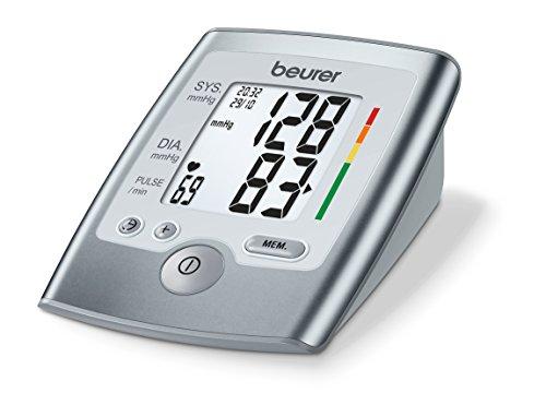 Beurer BM 35 - Tensiómetro de brazo, indicador OMS, memoria 2 x 60 mediciones, color gris