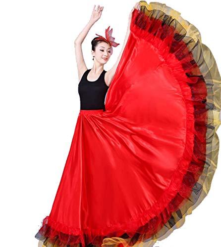 Stierkampf Tanzrock, Big Swing Rock Kostüm Kostüm Spanischer Stierkampf Tanzrock,720DEGREE