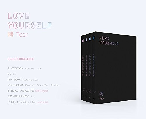 BTS - LOVE YOURSELF 轉 Tear [O ver.] D+Photobook+Mini Book+Photocard+Standing Photo+Folded Poster+4 Extra Photocards