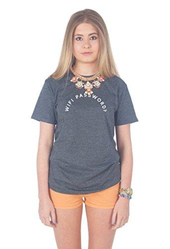 Sanfran Clothing Damen T-Shirt Dark Heather Grey