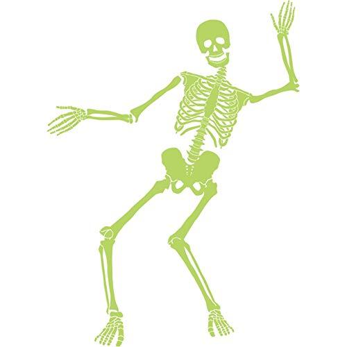 (YOEDAF Halloween-Wandaufkleber mit tanzendem Skelett, leuchtet im Dunkeln, für Partys, Trick, Fenster, Hintergrund 60x90cm Wie abgebildet)
