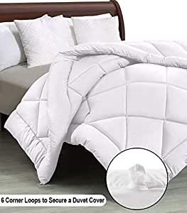 "Cloth Fusion Pacifier 2nd Generation 200GSM Microfiber Reversible AC Comforter for Single Bed - (60""x90"") Inches, White"