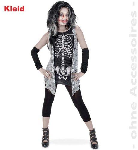FASCHING 10050 Kinder-Kostüm Zombie Girl Kleid Halloween NEU/OVP: Größe: 164 (Girls Halloween Kostüme Zombie)