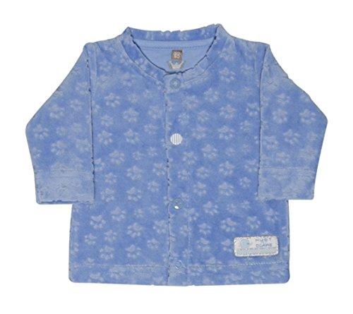 HUST & CLAIRE - Baby Junge Nicki-Jacke PFOTENSPUREN in blau Größe 50 (0 Monat)