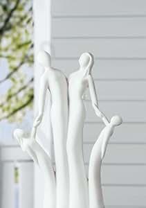 Gilde Skulptur Francis Familie 'Wir sind eins', 42 cm, creme