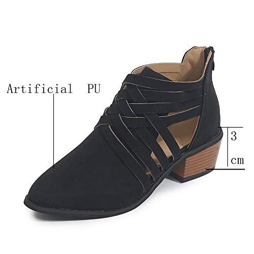 Cuña Tacón Alto Mujer Alpargatas Sandalias Plataformas Verano Cuero Punta Abierta Zapatos Romanas...