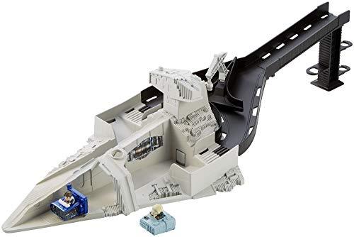 r Wars Sternenzerstörer Rennstarter, Auto Spielset mit Moloch und Han Solo Battle-Roller Figuren, ab 6 Jahren ()