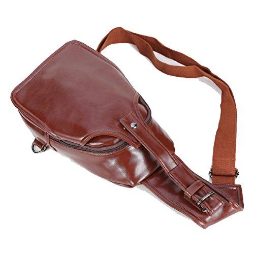 BULAGE Taschen Männer Brusttaschen Leder Messenger Schulter Outdoor Sport Freizeit Geldbörsen Qualitativ Hochwertige Schmutz Darkbrown
