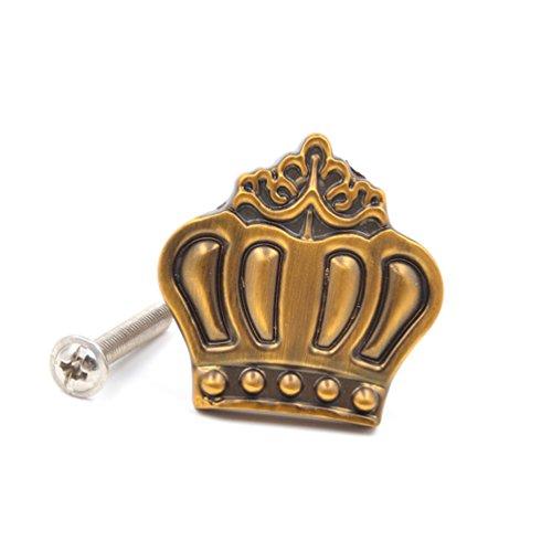 Lychee Vintage Pomelli in Lega di Zinco per Cassetti Armadietti Forma di Corona Casa Accessori Pulls Knobs Giallo