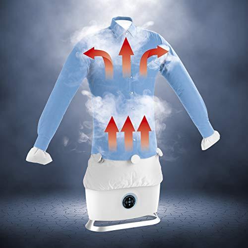 CLEANmaxx automatischer Hemdenbügler mit Dampffunktion Version 2019   Bügler für Hemden & Blusen, Bügelautomat   Bügelpuppe mit zwei Bügelprogrammen [1800 Watt/weiß]