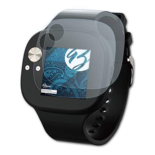 Bruni Schutzfolie für Asus VivoWatch BP HC-A04 Folie, glasklare Bildschirmschutzfolie (2X)