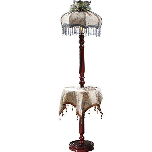 Vintage traditionelle handgemachte bestickte Tuch Kunst vertikale Stehlampe, antike Schlafzimmer Nacht Wohnzimmer Studie Massivholz Bodenlicht (Farbe) -