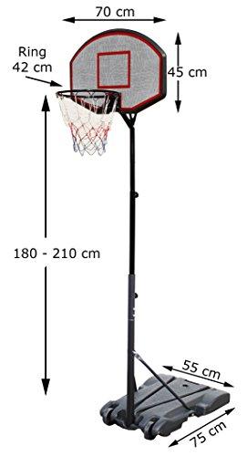 Basketballkorb mit Ständer Basketballständer 1,8 - 2,1 m Mobiler Portabler Basketballanlage