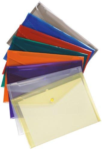 5 Star Premier Dokumententasche aus Polypropylen A4 25 Stück transparent farblich sortiert