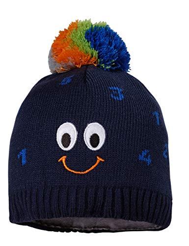 maximo Baby-Jungen mit Smile und Pompon Mütze, Blau (Navy 48), (Herstellergröße: 51/53)