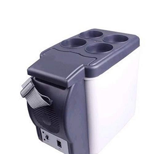 WYJW Minikühlschrank Der Neue tragbare Minikühlschrank, Reise-Camping-DC-Wärmer, tragbarer 12-V-Gefrierschrank-Wärmer-Kühlschrank-Reise-Koffer 6L