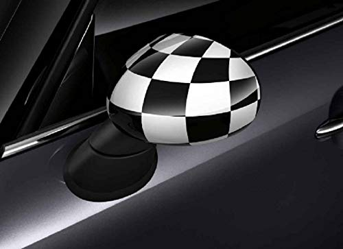 Morza Replacement for Mini 2001-2006 489120050 Black Door Wing Mirror Cover Casing Primed Right Driving Side