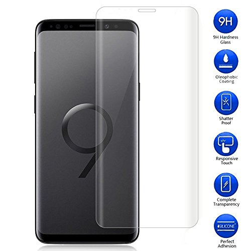 Samsung Galaxy S9 Plus Panzerglas Displayschutzfolie, Vicstar 9H Härte Anti-Kratzen Anti-Öl 99% Transparenz [2.5D Folie] [Bubble Free][Full Scratch Protection] Kompatibel Schutzfolie für Samsung Galaxy S9 Plus