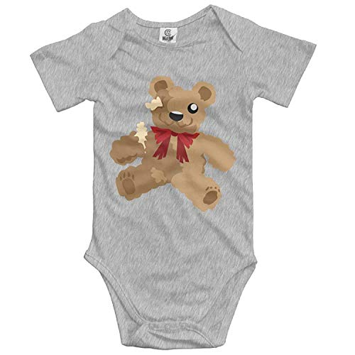 TKMSH Unisex Baby's Climbing Clothes Set Bear Toy Bodysuits Romper Short Sleeved Light Onesies for 0-24 ()