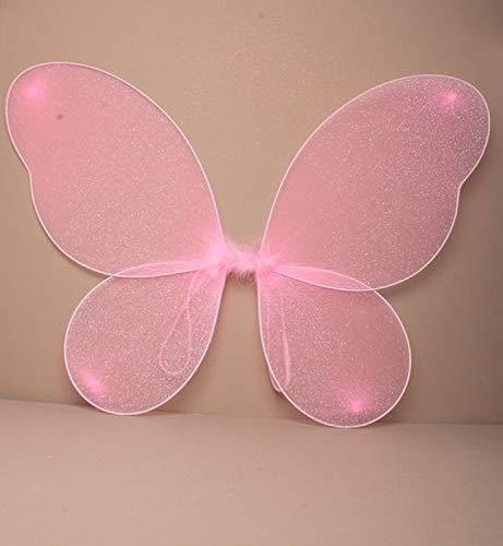 Große erwachsene Netz-Fee Wings mit silbernem Glitter-Abendkleid oben