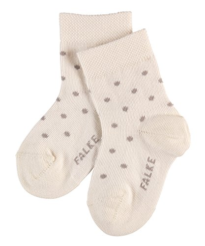 FALKE Baby-Unisex Little Dot Socken, offwhite, 62-68