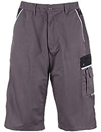 TMG® - Pantalones cortos cargo para hombre - Muy resistentes - Gris