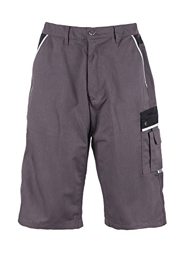 TMG® - Cargo-Shorts/Arbeitshose - strapazierfähig - für den Sommer - Grau (W40 / EU56)
