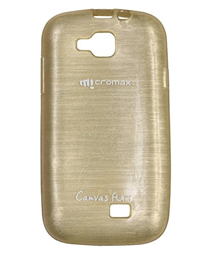 iCandy™ Soft TPU Shiny Back Cover For Micromax Canvas Fun A63 - Golden  available at amazon for Rs.165