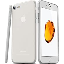 TOZO® para iPhone 7 Funda [0.35mm] Ultrafino [ Ajuste perfecto ] World's más delgado Hard Protect Funda Back Cubrir Bumper [ Semi-transparent ] Ligero para iPhone 7 4.7 inch [Matte Frost blanco]