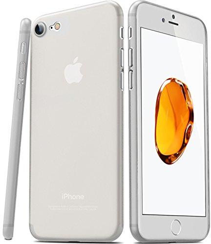 iPhone 7 Coque, TOZO® [0.35mm] Ultra-Thin [ Perfect Fit ] World's Thinnest Hard Protect Coque Back Cover Bumper [ Semi-transparent ] Lightweight pour iPhone 7 4.7 inch [Matte Ore bleu] Semi Transperant Matte Matte Frost blanc