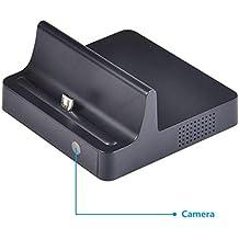 BYD - 720P teléfono móvil Dock Cargador Charger Cámara espía Spy Cam movimiento activado Mini Cámara oculta Dock estación espía Cámara