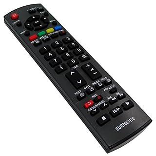 Aerzetix DIS81 TV Remote Control compatible with Panasonic EUR7651110 / EUR7651120