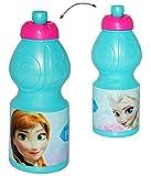 """Trinkflasche - """" Disney die Eiskönigin / Frozen """" - 400 ml - auslaufsicher / aus Kunststoff - für Kinder Plastik - Fahrradflasche / Flasche Mädchen & Jungen - Prinzessin Olaf - völlig unverfroren - Elsa / Anna - Arendelle - Fahrradtrinkflasche - Sportflasche"""