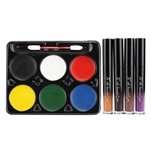 Gesicht malen Kosmetik, Gesicht malen Kosmetik langlebige Lipgloss Set Cosplay Make-up-Tool, zum Spaß Motto Party, Kostümfest, Halloween, Geburtstagsfeier, farbige Zeichnung Unterricht(01#)