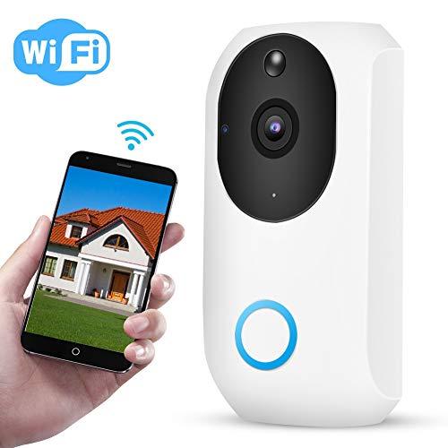 1080P HD WiFi Video Türklingel, 2MP Smart Home Überwachungskamera mit Zweiwege Gegensprechanlage, IR Nachtsicht, PIR Bewegungserkennung, APP Steuerung Intercom-master-system