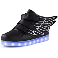 AFFINEST Bambino Scarpe Led Con Luci Sneakers Bright Light USB