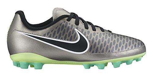 Nike Magista Onda Ag, Scarpe da Calcio Bambino Multicolore (Multicolore - Plateado / Negro / Verde / Blanco (Mtlc Pewter / Blk-Ghst Grn-White))