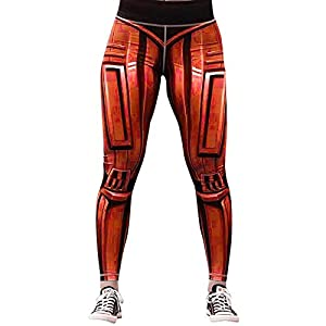 Hxuli Hose Damenmode Freizeit Leggings Damen Slim Fit Streetwear Elastische Yogahose Enge Hosen Basic Hosen Workout Fitness Sport Sporthose Fitnesshose Sweathoseorangexl