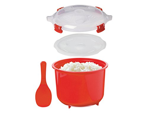Sistema Microwave Rice Steamer, 2.6 L – Red/Clear