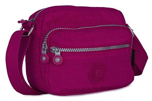 Big Handbag Shop , Damen Umhängetasche Einheitsgröße Hot Pink