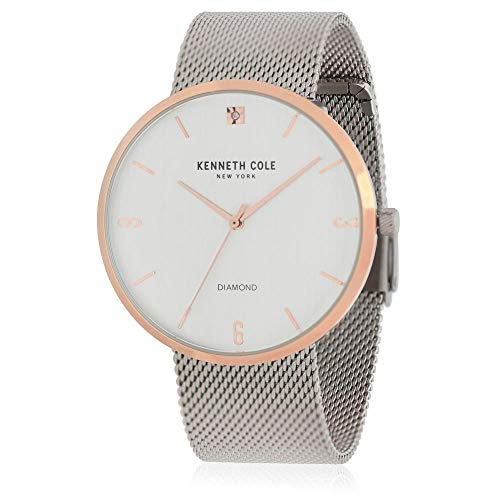 Kenneth Cole Men's Steel Bracelet Gold Tone Steel Case Quartz Watch KC50638004
