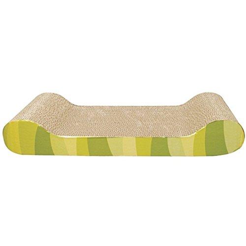 Heritage Karton Kratzbaum Kratzern Bett Pad Sofa Lounge & Gratis Cat Nip (B12/1Forest Streifen Kratzbaum)