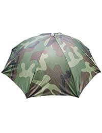 QinMM Sombrero del Sol Plegable Paraguas Golf de Pesca Camping Gorra de Sombrillas Travel Viseras de Hombre y Mujer